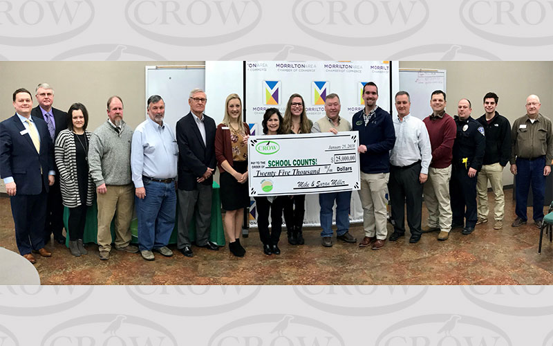 Crow Construction invests in School Counts
